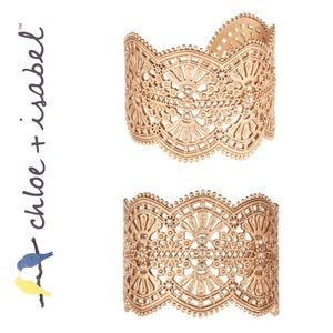 🆕 Queen's Lace Statement Cuff GOLD c+i B344MEWG